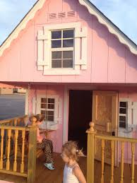 kids playhouse made by kentucky barns look up close inside and