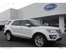 Ford Explorer Limited - 2016 white platinum metallic tri coat ford explorer limited