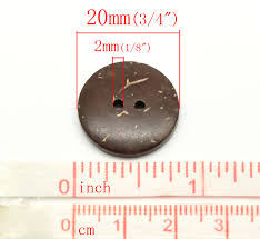 funique selling 100pcs brown coconut shell buttons for