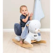 siege a bascule bebe fauteuil à bascule bébé personnalisé bibou le lapin