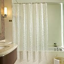 How Long Are Shower Curtains Amazon Com Waterproof Shower Curtain Crazylynx Bath Tub Shower