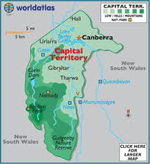 territories of australia map capital territory map geography of capital territory map of