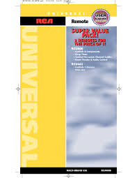 rca remote manual universal remote users guides