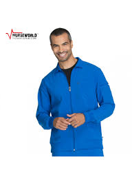 s infinity antimicrobial athletic fit scrub jacket