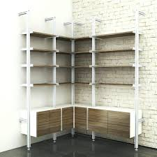 Garage Shelving System by Hd Corner Wall Shelving 72817k Library Shelves Design Elfa Weight