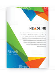 visual identity with letter logo polygonal style letterhead and