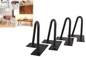 vintage hairpin table legs 6 set of 4 hairpin coffee table legs 1 2 solid steel diy vintage