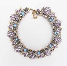 fashion jewelry statement necklace images Ppg amp pgg fashion jewelry women luxury rhinestone collar purple jpg