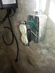 installing an electrical outlet on a masonry wall building moxie