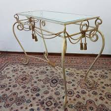 Wrought Iron Console Table Wrought Iron Console Table With Mirror 1960s For Sale At Pamono