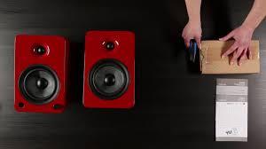 Bookshelf Powered Speakers Kanto Yu6 Wireless 2 Way Powered Bookshelf Speakers Unboxing