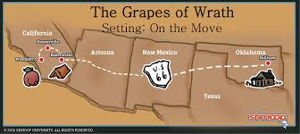 Map Of The Problematique The Grapes Of Wrath