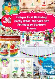 unique party first birthday theme ideas for boy no princess cartoon themed unique