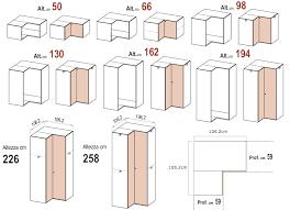 armadio angolare misure le misure degli armadi dielle