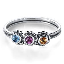 mothers ring mothers rings with 3 stones lace birthstone ring metalicious