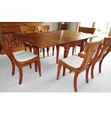 solid cherry dining table and chairs custom built by sampler