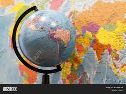 World Map Asia by Closeup Of A Globe With Asia And Africa And A World Map With North