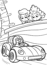 molly deema watch racing car bubble guppies coloring