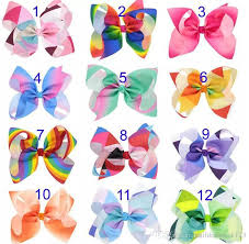 bows for rainbow jojo bows for siwa style hair bows christmas hair