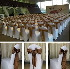 gold chair sashes 40 pcs lot wedding decoration chair satin sashes gold satin chair