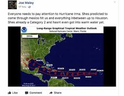 fake irma forecast firsthand weather