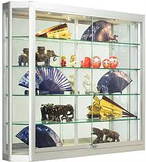 Wall Mounted Display Cabinets With Glass Doors Wall Cabinet Display With Angled Front Design