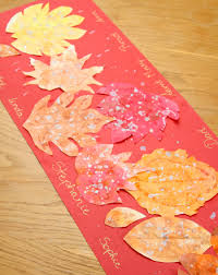 make a thanksgiving table runner activity education