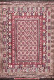 large tribal design persian kilim vintage rug 47598 by nazmiyal
