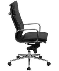 High Quality Office Chairs Btod Modern High Back Leather Office Chair Chrome Base
