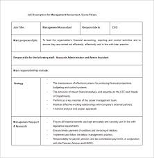 accountant job description template 11 free word pdf format