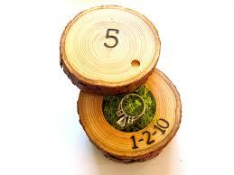 fifth anniversary gift 5th anniversary gift wood anniversary ring box