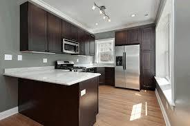 kitchen colors for dark cabinets concrete tile flooring rectangle