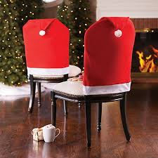 christmas chair covers santa hat christmas chair covers set of 2 improvements
