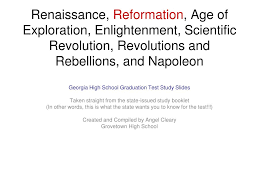 ppt renaissance reformation age of exploration enlightenment