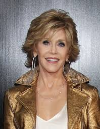are jane fonda hairstyles wigs or her own hair jane fonda adds brunette highlights to her grey hair photo