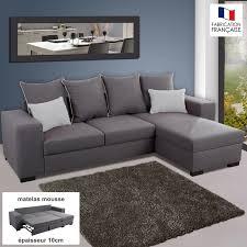 canap d angle r versible canapé d angle réversible convertible en tissu gris et gris clair