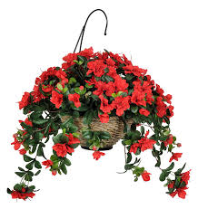 flower baskets house of silk flowers artificial azalea hanging