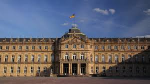 stuttgart castle ultra hd 4k video time lapse stock footage palace square