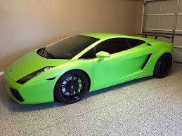 Lamborghini Gallardo Green - mechanicsburg garage with lamborghini on epoxy coatings