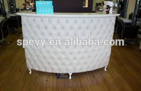 Customized Sale White Tufted Reception Desk For Nail Salon Buy