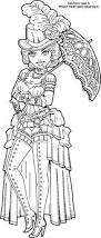 steampunk coloring fantasy girls femme fatales
