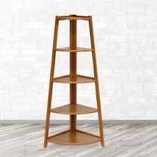 Short Ladder Bookcase Llytech Inc Yaotai Espresso Corner Ladder Shelf Fnaj 11112 1 The