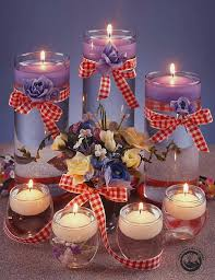 floating candle centerpiece ideas bowling pin candles stunning glass jar candle centerpieces for