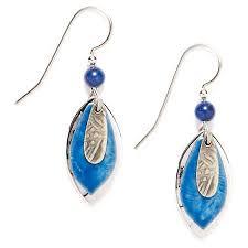 blue drop earrings silver forest tri layer blue drop earrings bealls florida