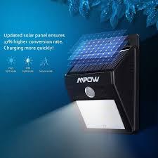 mpow solar light instructions mpow black plastic solar powered 8 led wireless security motion