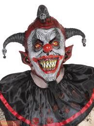 jester mask scary evil clown jester mask mens horror psycho