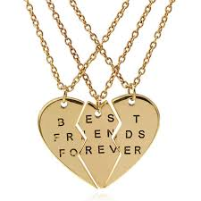 friend heart necklace images Best friends forever 3 piece friendship necklace madison audrey jpg