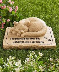 pet memorial garden stones pet memorial 3d cat sculpture cold cast ceramic garden