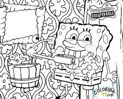 spongebob squarepants coloring page free coloring pages on art