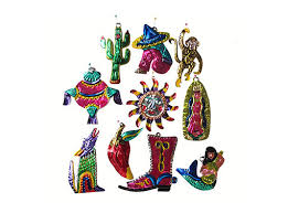 mexican punched tin ornaments all southwestern style handmade viva